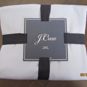 J.Crew Home Solid 100% Cashmere Throw Blanket